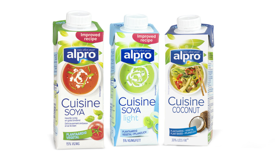 Alpro international branding packaging by mona lisa for Alpro soja cuisine